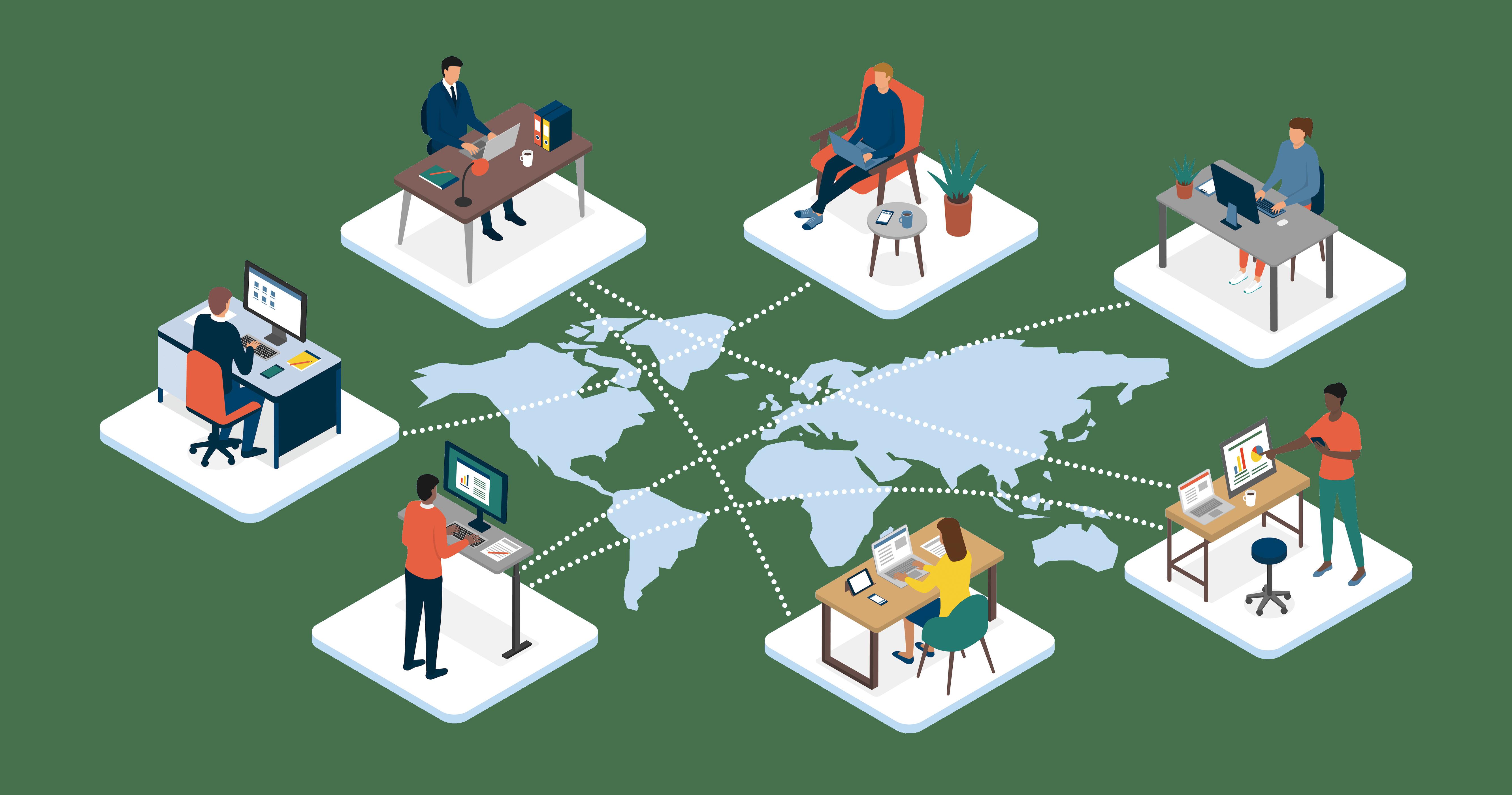 Standortunabhängige Team-Kommunikation